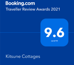 Booking.com 2020 Guest Review Awards Gold medal 9.6 rating